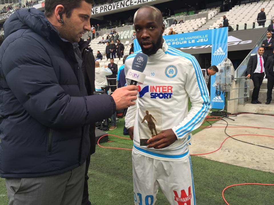 Lassana Diarra, premier lauréat de la saison 2015/2016 du meilleur joueur de Ligue 1 du mois.